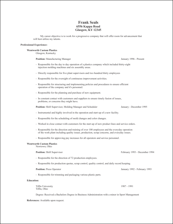 Corel Draw Resume Templates