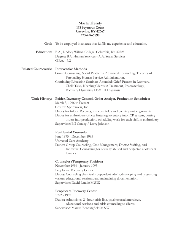 Free resume template 2