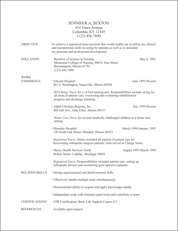 resume template 4 free resume templates