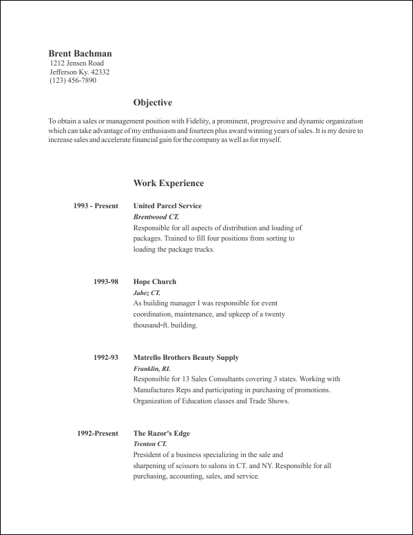 Free Resume Template 8